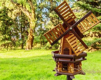 Traditional Garden Wooden  Windmill