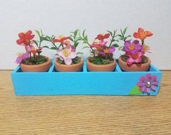 Decorative Flower Box Centerpiece Arrangement