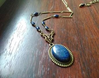 Lapis Lazuli vintage style necklace
