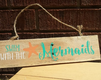 Swim with the Mermaids Sign