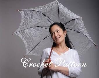 Parasol Crochet Pattern Umbrella crochet Summer Parasol Boho parasol Boho umbrella Parasol lace PDF English