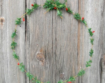 Scandi Christmas wreath decoration