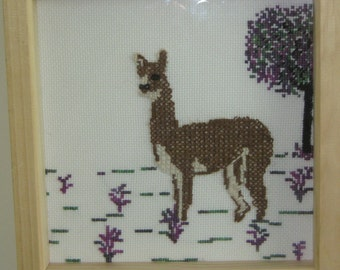 Bay the Alpaca Counted Cross Stitch Kit