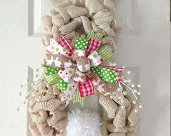 Beautiful Easter Bunny Wreath