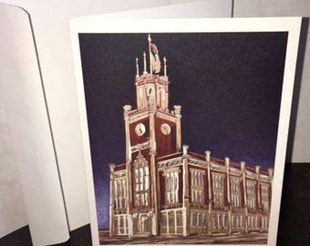 Blank Note Card City Hall Manchester NH