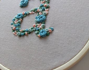 Hand Embroidered Floral Serif Letters/Initials