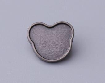 cat button 10pcs 14mm light black shank button cute button children garment accessories