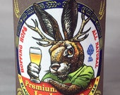 Jackalope Pale Ale Can Cooler-  Foam Can Cooler for Cans and Bottles