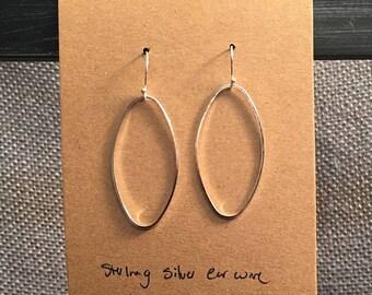 Oval Earrings with Sterling Silver Earwire
