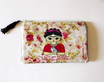 Frida Kahlo, cosmetic bag, Frida Kahlo portrait, makeup bag, frida kahlo bag, feminist art, pencil case, zipper pouch, frida kahlo art