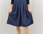 Vintage Denim Jumper, Size Medium, Mori Girl, Hipster, Forest Kei, 80's-90's, Fall Clothing, Lagenlook