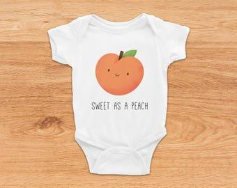 Baby Pun Onesie, Cute Baby Clothes, Baby Shower Gift, Funny Onesie, Baby Girl Onesie, Baby Boy Onesie, Peach Onesie, Baby Summer Clothes