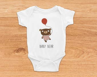 Baby Boy Coming Home Outfit, Newborn Baby Gift, Bear Onesie, Baby Shower Gift, Cute Baby Clothes, Summer Baby Clothes, Newborn Baby Onesie