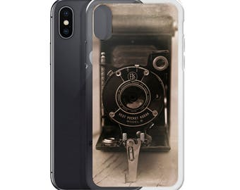 Vintage Camera Phone Case, Gift for Photographer, Steampunk iPhone Case, Samsung Galaxy Phone Cases, iPhone 7 Case Antique Kodak Vest Pocket