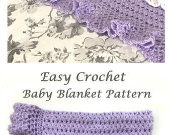 Crochet Baby Blanket Pattern, Baby Blanket Pattern, Crochet Baby Blanket, #CROCHET #PATTERN, Heirloom Lace, Patterns by Deborah O'Leary