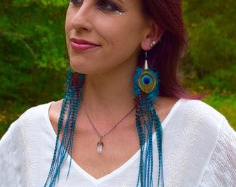 CALYPSO Long Feather earrings