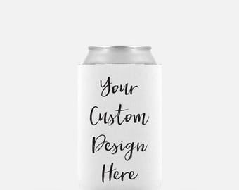 Personalized Can Cooler, Wedding Can Cooler, Beer Can Cooler, Wedding Favor, Can Holder, Bridal Shower, Bachelorette Party, Groomsmen Gift