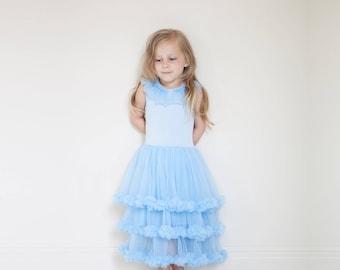 NEW Cinderella Dress - blue flower girl dress couture cinderella costume princess dress