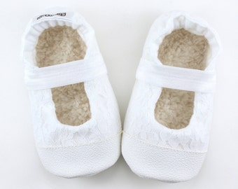 white mary janes, lace baby shoes christening booties wedding baby shoes flower girl booties lace shoes for girl cloth mary janes vegan baby