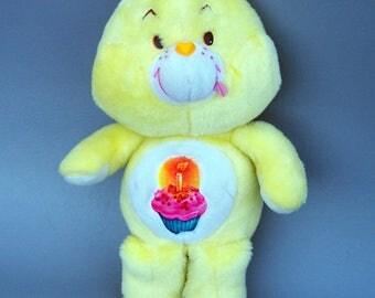 Vintage 1983 Care Bears Birthday Bear Plush Doll C8
