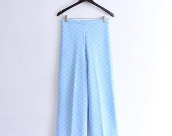 Baby Blue 70s Grid Pants