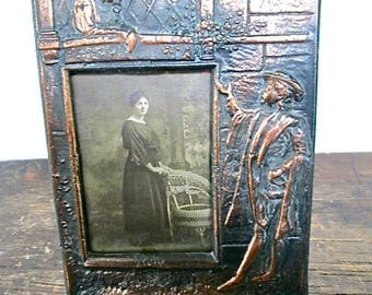 Sale 1930s Bronze Romeo and Juliet Theme Picture Frame