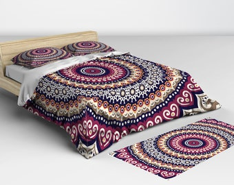 Doona Cover, and Comforter available, Mandala Doona Covers, Twin Full Queen and King Sizes Matching Pillow Shams Available