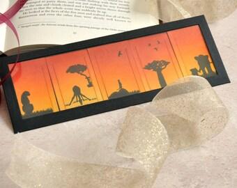 Africa Dreams Clip Bookmark Set, FREE UK SHIPPING set of 5 Handmade Artist Bookmark Book Lover Bookworm Gift stocking stuffer