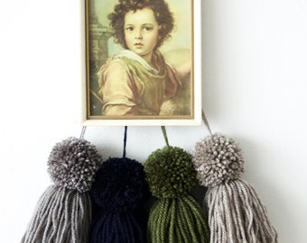 Pompoms with Fringes   Painting Child   Wall Decoration   Children's Room