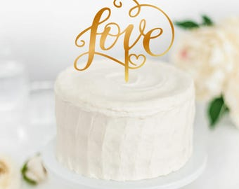 Acrylic Cake Topper 'LOVE'