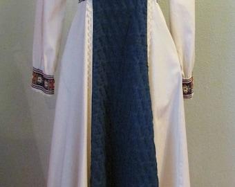 GUNNE SAX Festival Boho Prairie Empire Waist Long Sleeves 1970s size 5