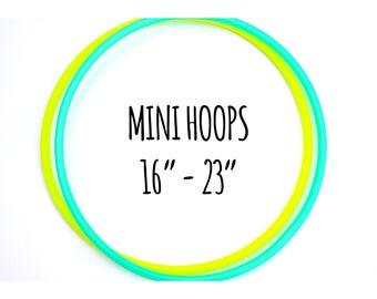 """MINI HOOPS 16""""-23"""" Colored Polypro Minis Set ~ Mini Doubles Deal, Polypro Minis, 16""""-23"""" Inch Mini Polypro Hoops, Leave Note During Checkout"""