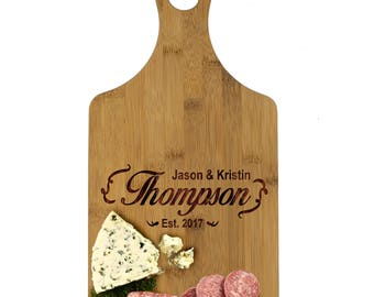 Custom Cheese Board, Personalized Cutting Board, Bamboo Cutting Board, Wedding Gifts for Couples, Cheese Board Personalized, Bamboo Board