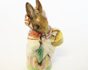 Beswick Mrs Rabbit Figurine, Beatrix Potter's Mrs Rabbit, BP3c 1985-88, Hand Painted China Rabbit Ornament