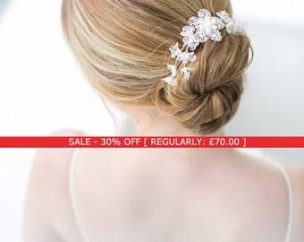 SALE Petal Small Hair Comb - bridal headpiece, wedding headpiece, bridal hair comb, handmade flowers