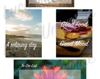 Printable photo cards for Pocket Pages, Project life or scrapbooking