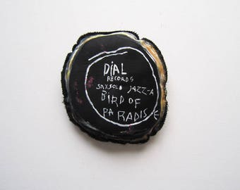 Jazz dj gift Basquiat black artist saxophonist Charlie Parker creative graffiti home decoration wall urban art birthday gift music man woman