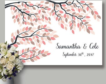 Personalized Guestbook, Wedding Signature Tree, Tree Guestbook, Wedding Guest book Tree, Wedding tree, Wedding poster, Fall Wedding tree #7