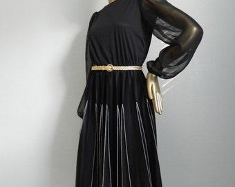 if you pleats ~ black day dress