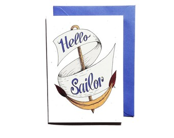 Nautical themed greetings card