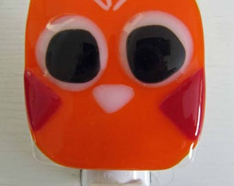 Lucy - Owl: Fused Glass Night Light - Free Shipping!