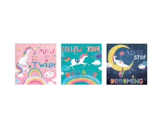 A set of 3 different square cards by Mila Marquis