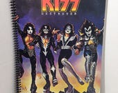 KISS Destroyer Album Cover Notebook Handmade Spiral Journal