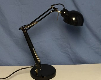 Black Industrial Desk Lamp Fully Adjustable Pixar Lamp Steampunk Boom Lamp