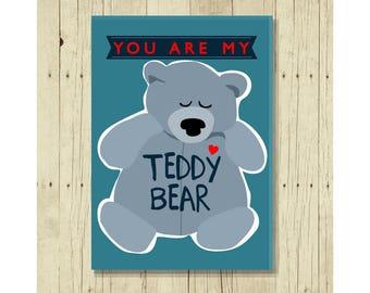 You Are My Teddy Bear Refrigerator Magnet, Gift for Girlfriend, Boyfriend, Kids, Baby,  Under 10, Gift for Boyfriend, Husband, Wife, Sweet
