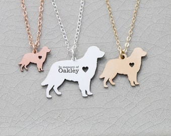 SALE • Golden Retriever Necklace • Dog Pendant • Pet Charm • Dog Silver Charm • Personalized Puppy Gift • Engraved Pet • Charm Unique Gift