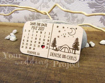 Calendar Save the Date Magnet, Custom Engraved Save the Date, Wood Save the Date, Rustic Save the Date, Wedding Favors, Wedding Invitation