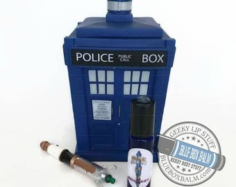 """Sonic Scent - BRILLIANT - """"13th"""" Doctor Who Inspired Body Scent - A Flower Bomb type fragrance in a Blue Glass Roller Bottle"""