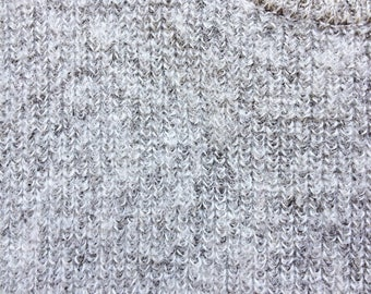 Frosted Heather Grey Fuzzy Wool Sweater