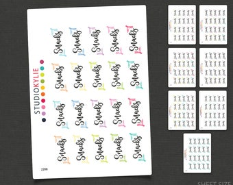 Snacks Stickers - Planner Stickers -Repositionable Matte Vinyl to suit all planners